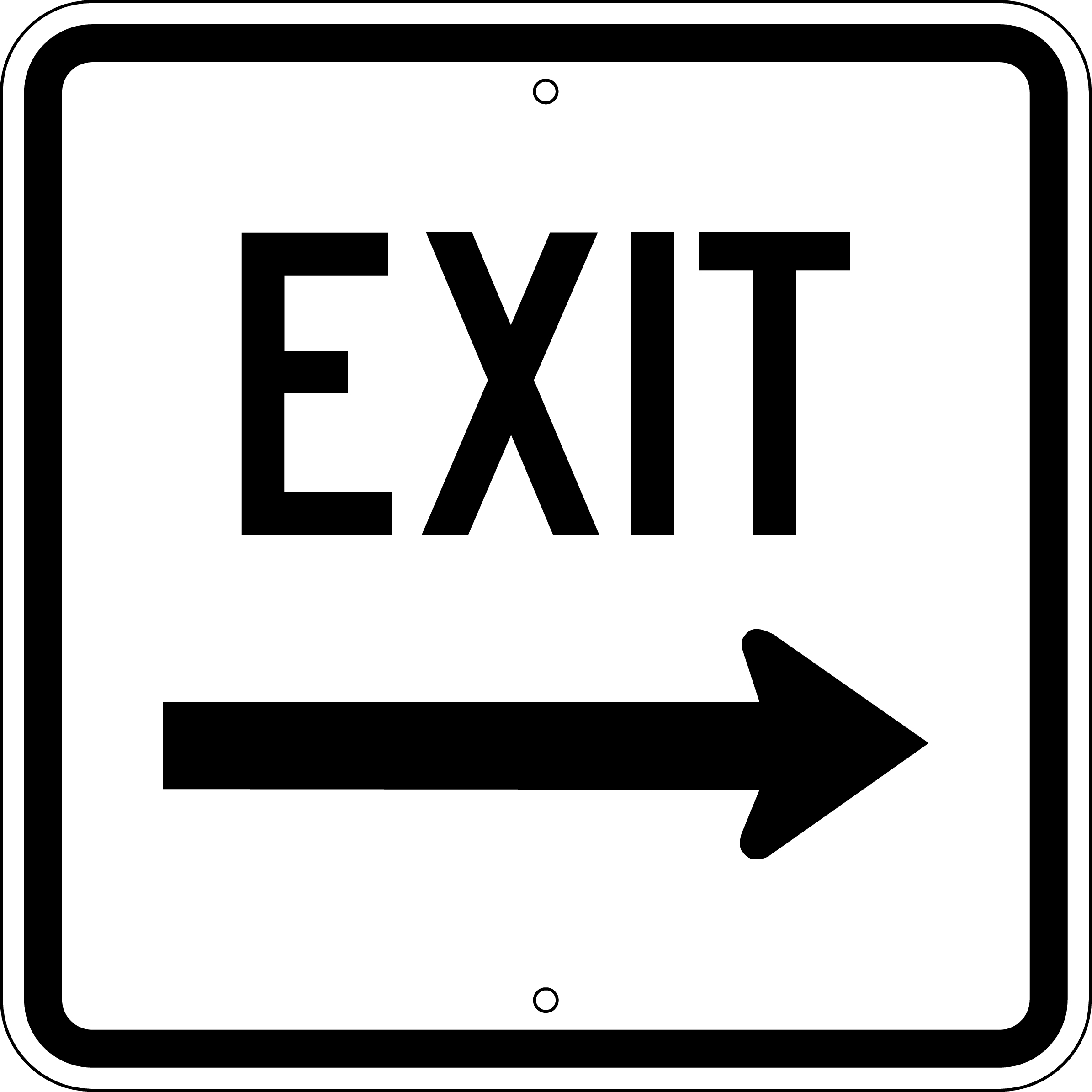 Coloring pages iphone - Exit Sign Colouring Pages 251x251 Free