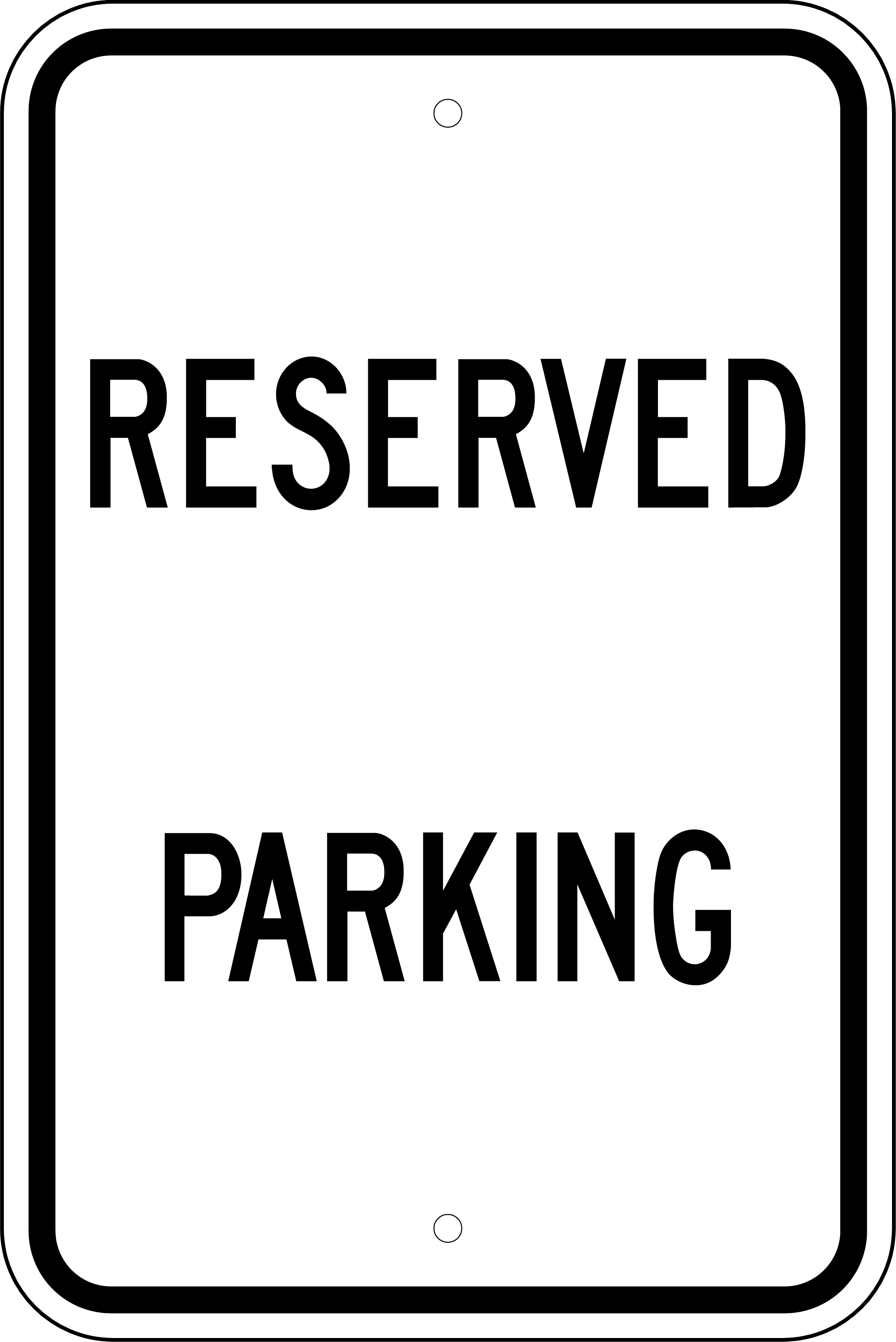 Printable reserved parking sign pictures to pin on for Reserved parking signs template