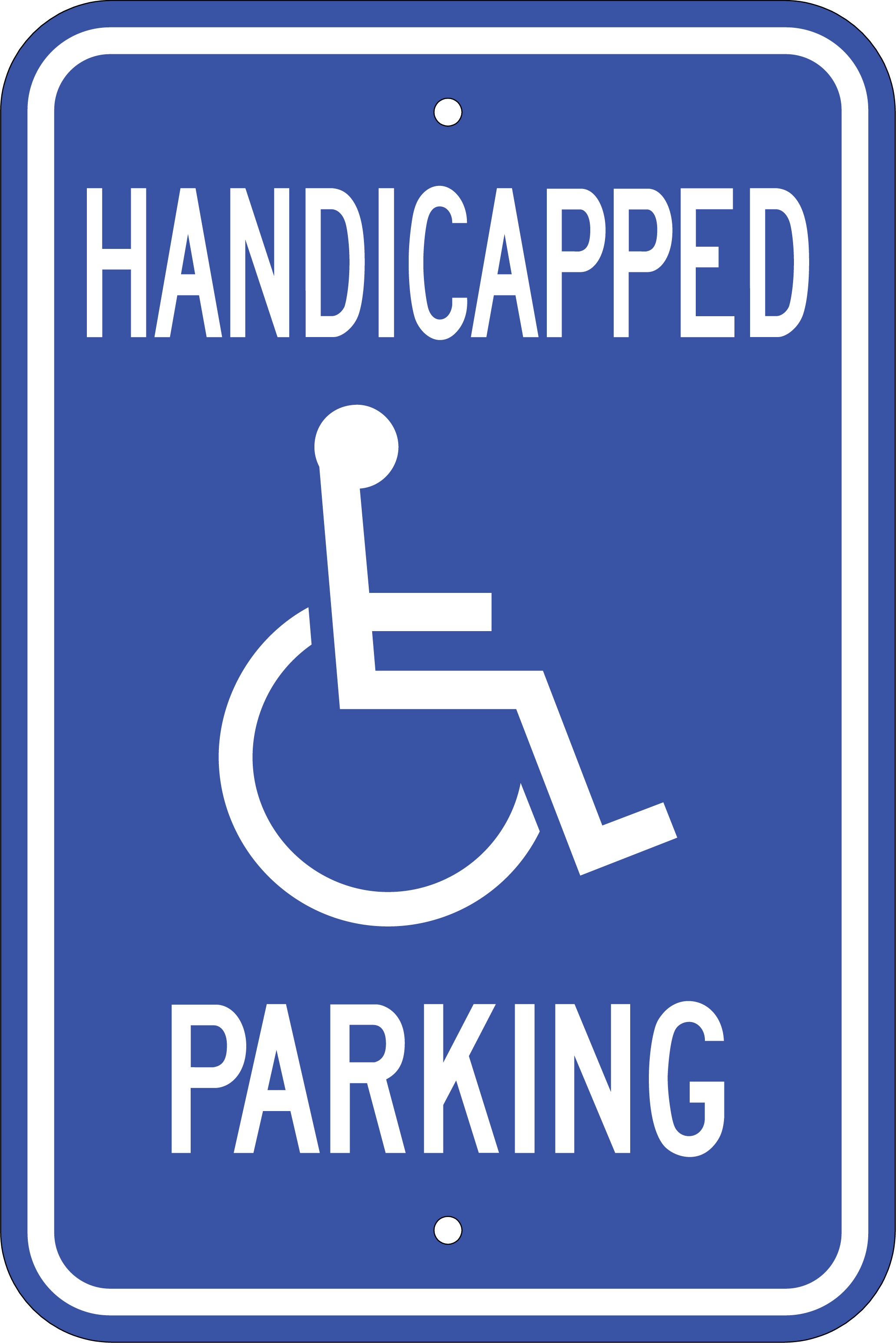 Crazy image pertaining to printable handicap sign