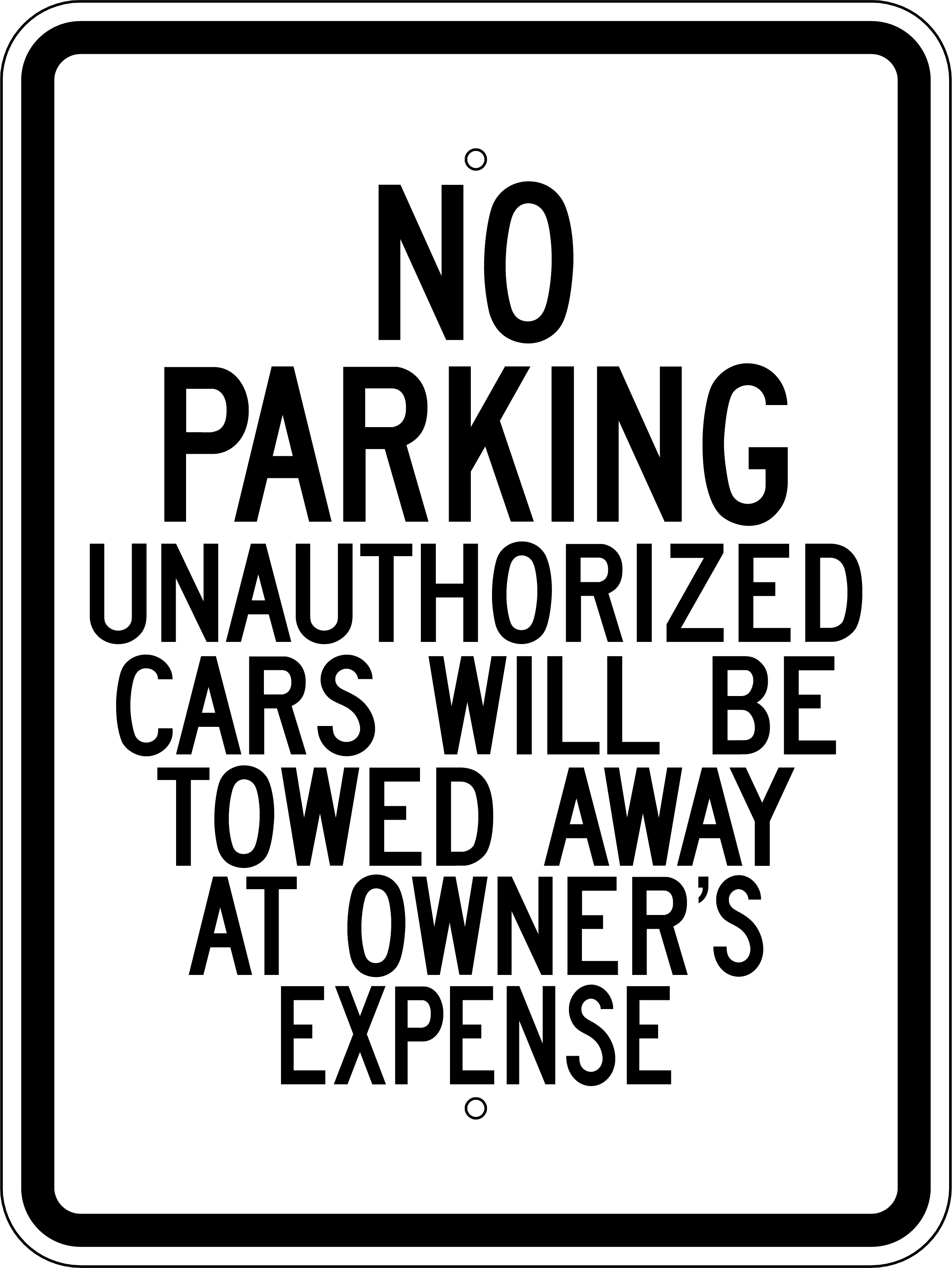 Printable reserved parking sign pictures to pin on for No parking signs template
