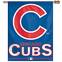 Chicago Cubs Vertical Banner 27x37 Version 1