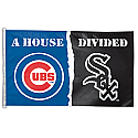 Chicago Cubs/White Sox A House Divided Flag 3x5