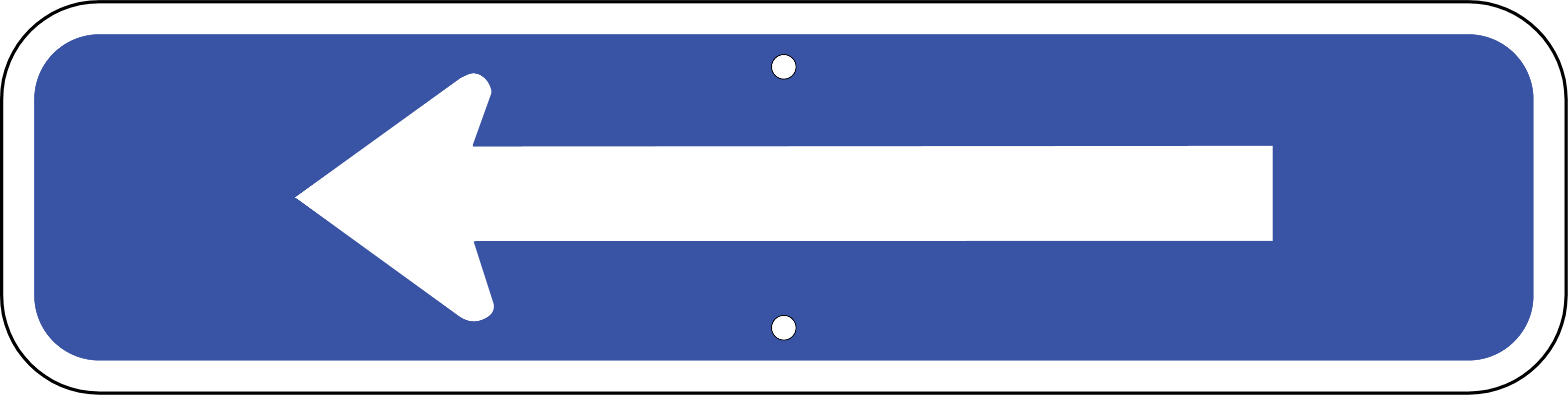 Arrow Sign (Blue)