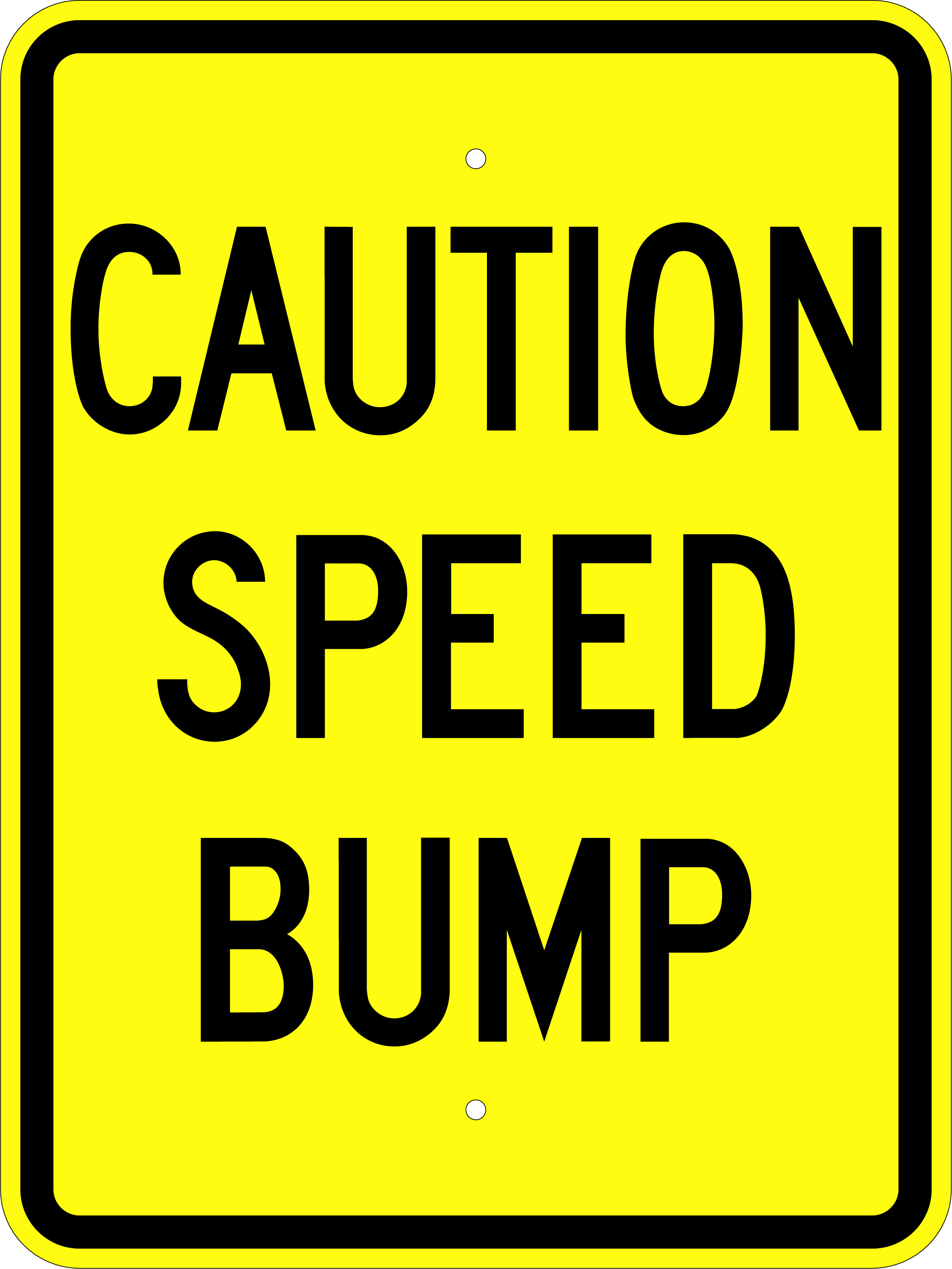 Caution Speed Bump 18x24 Sign