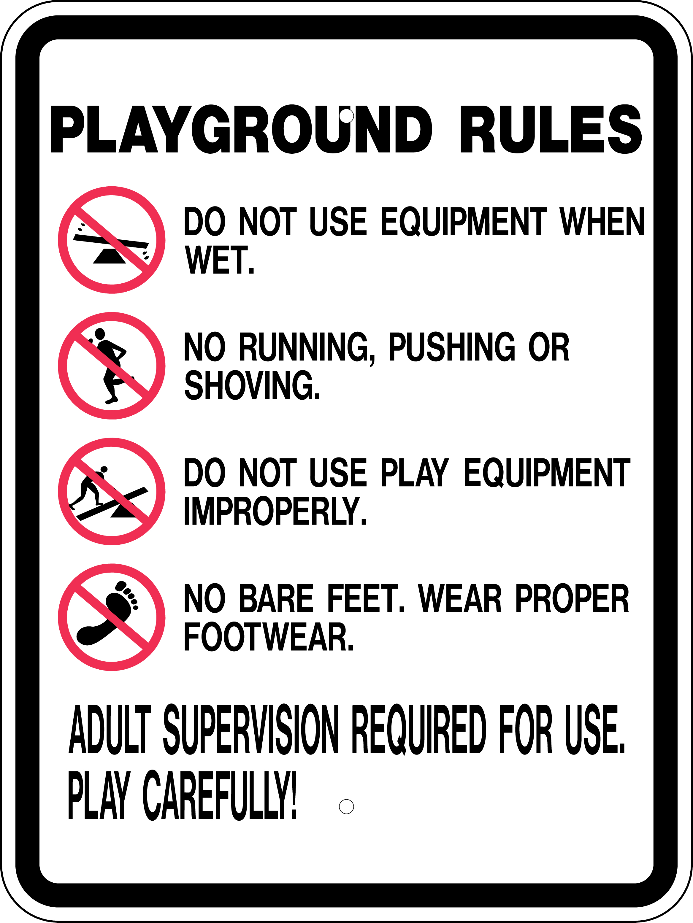 Playground Rules Sign