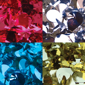 Metallic Floral Sheeting