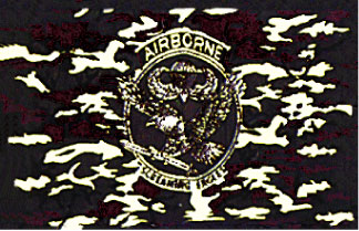 Camouflage Airborne Flag
