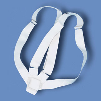 Double Strap White Webbing Carrying Belt