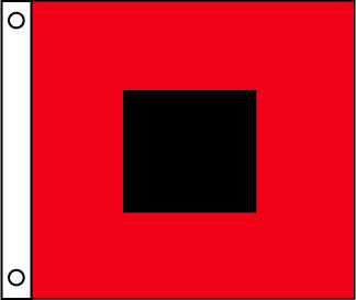 Hurricane Storm Signal Warning Flag