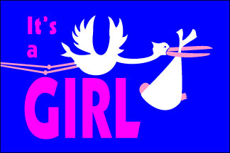 It's a Girl! Flag