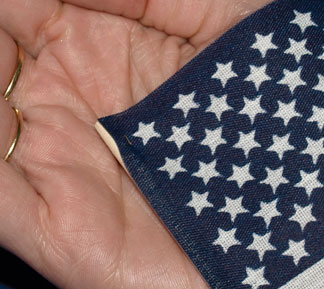 Hand Held No-Fray Cotton US Stick Flags