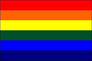 Rainbow Pride Cotton No-Fray Miniature Flags