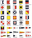 Complete Set of International Code Flags w/ Brass Grommets
