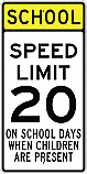 School Speed Limit 20MPH Sign