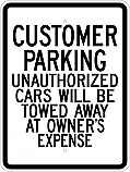 Customer Parking 18x24 Sign