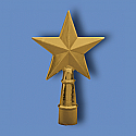 Metal Texas Star Flagpole Ornament
