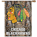 Chicago Blackhawks Camouflage Vertical Banner 27x37