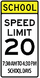 School Speed Limit 20MPH Sign v2