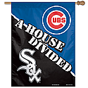 Chicago Cubs/White Sox A House Divided Vertical Banner 27x37