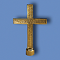 Metal Passion Gold Cross Flagpole Ornament