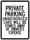Private Parking 18x24 Sign