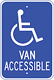 Handicapped Van Accessible Sign