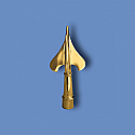 Metal Army Spear Flagpole Ornament