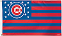 Chicago Cubs Stars & Stripes Flag 3x5