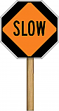 "Stop/Slow 24""x24"" Paddle Sign (Engineer Grade Reflective)"