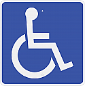 Handicapped Symbol Sign 12x12