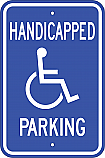 Handicapped Parking Sign V2