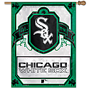 Chicago White Sox Irish Shamrocks Vertical Banner 27x37