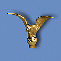 Metal Flying Gold Eagle Flagpole Ornament