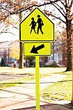 Arrow Crosswalk Rider Sign