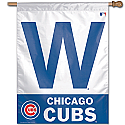 Chicago Cubs W Vertical Banner 27x37