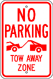 No Parking Tow Away Zone Graphic Sign