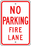 No Parking Fire Lane 18x24 Sign