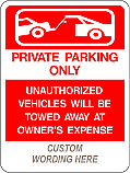 Private Parking (Add Legend) Sign