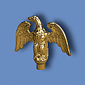 Metal Perched Eagle Flagpole Ornament