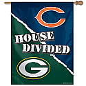 Chicago Bears/Packers A House Divided Vertical Banner 27x37