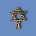 Metal Star of David Flagpole Ornament