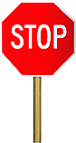 "Stop/Slow 18""x18"" Hand Paddle Sign"