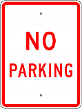 No Parking 18x24 Sign