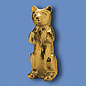 Metal Bear Flagpole Ornament