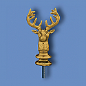 Metal Elks Head Flagpole Ornament