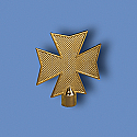 Metal Maltese Cross Flagpole Ornament
