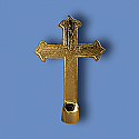 Metal Fancy Gold Cross Flagpole Ornament