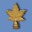 Metal Maple Leaf Flagpole Ornament