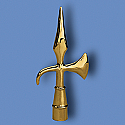 Metal Battle Axe Flagpole Ornament