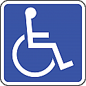 Vinyl Handicapped Sticker